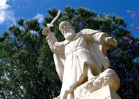 Abraham Statue on Mount Carmel Israel